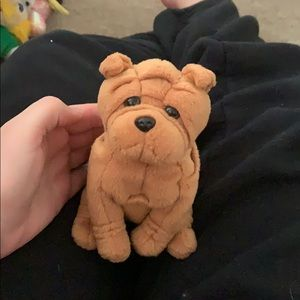 Other - Crinkles the shar pei beanie baby